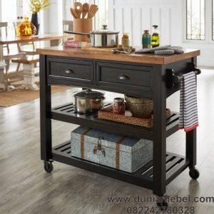 meja dapur roda biasa
