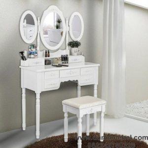 meja rias 3 cermin