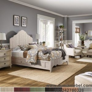 tempat tidur klasik 2 laci modern