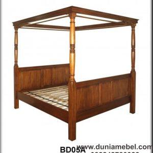 Tempat Tidur Minimalis Model Kelambu