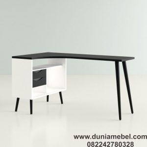 Meja Kantor Minimalis L-shape Dowler