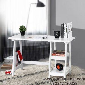Meja Kantor Minimalis A-Frame Jati Simpel