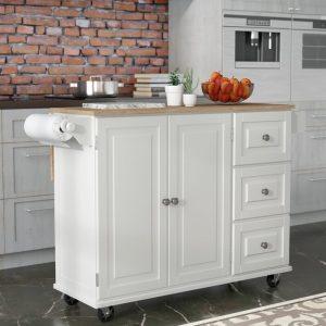 Meja Dapur Dorong Warna Putih