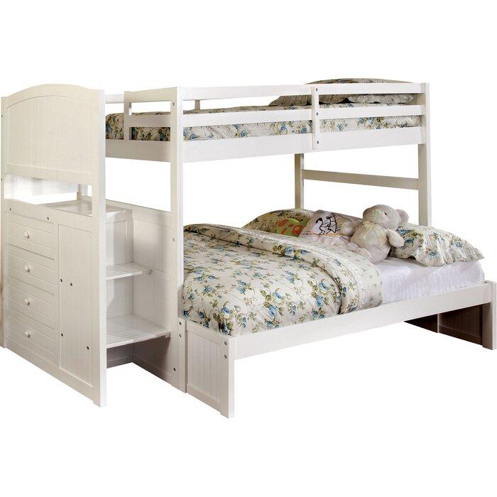 Tempat Tidur Tingkat Minimalis Penuh dengan 4 Laci