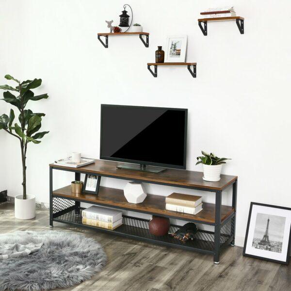 Rak Tv dan Buku Rangka Besi